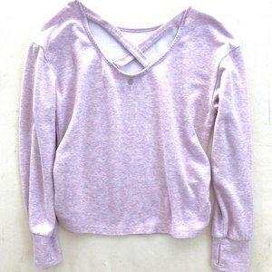 Zella Lilac Criss-Cross Back Sweatshirt - Large